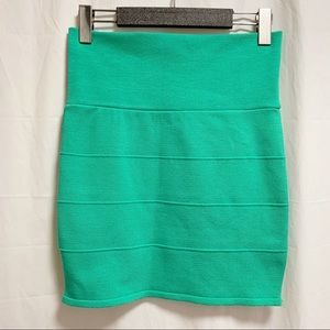 Pusch Bodycon Bandage Style Green Mint Skirt